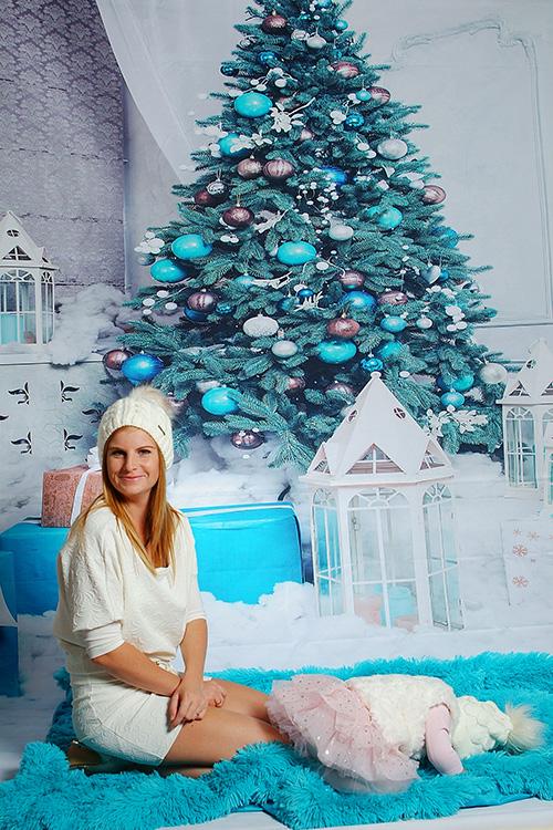 karácsonyi családi fotó